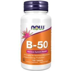 Now Foods B-50 Witamina B Complex 100 tabletek