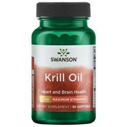 Swanson Olej z Kryla (Krill Oil) 1000 mg 30 kapsułek
