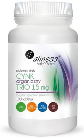 Aliness Cynk Organiczny Trio 15 mg 100 tabletek