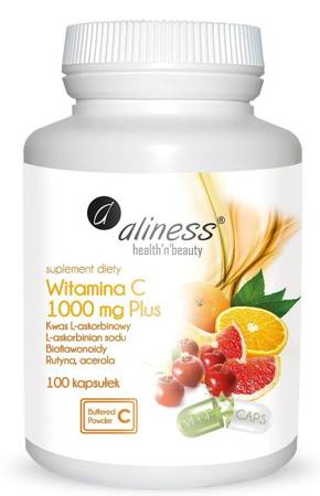 Aliness Witamina C 1000 mg Plus 100 kapsułek vege