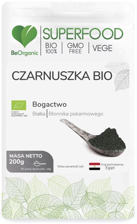 BeOrganic Czarnuskza BIO 200 g proszek