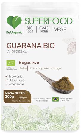 BeOrganic Guarana BIO 200 g proszek
