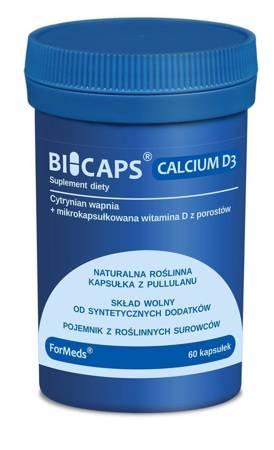 ForMeds BiCaps Cytrynian Wapnia + Witamina D3 60 kapsułek
