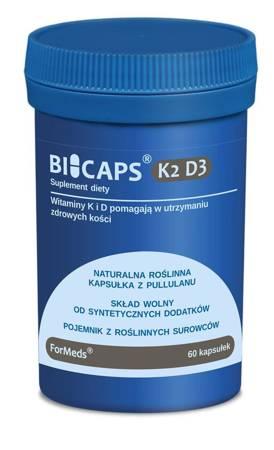 ForMeds BiCaps Witamina K2 100 mcg + D3 2000 iu 60 kapsułek