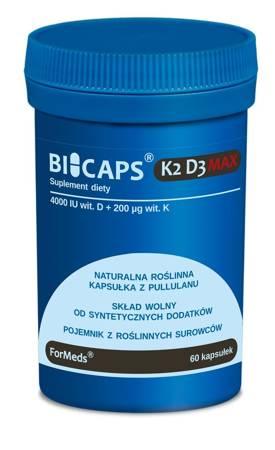 ForMeds BiCaps Witamina K2 200 mcg + D3 4000 iu 60 kapsułek