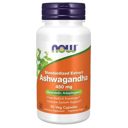 Now Foods Ashwagandha 450 mg 90 kapsułek