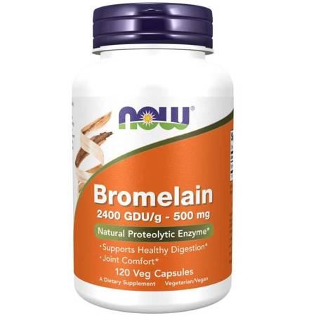 Now Foods Bromelaina 500 mg 120 kapsułek