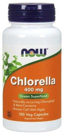 Now Foods Chlorella 400 mg 100 kapsułek