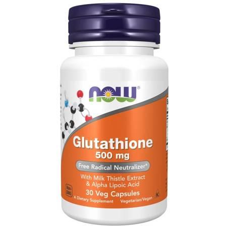 Now Foods Glutation 500 mg 30 veg kapsułek
