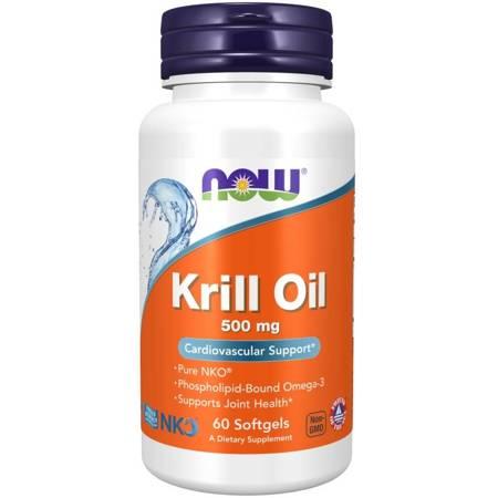 Now Foods Krill Oil Neptune 500 mg 60 kapsułek