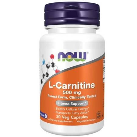 Now Foods L-Karnityna 500 mg 30 veg kapsułek