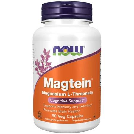 Now Foods L-Treonian Magnezu Magtein 90 kapsułek