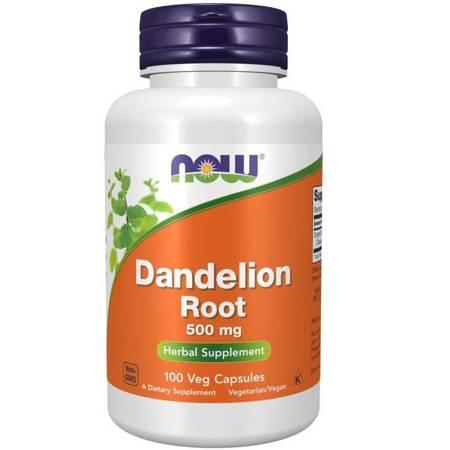 Now Foods Mniszek Lekarski (Dandelion) 500 mg 100 kapsułek