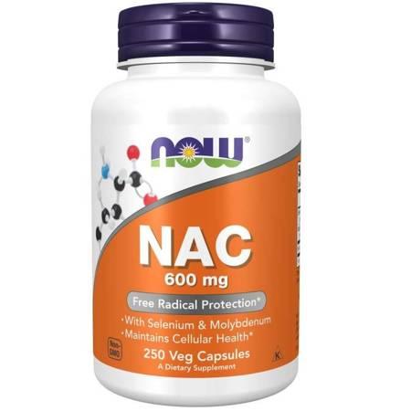 Now Foods N-Acetylo Cysteina (NAC) 600 mg 250 veg kapsułek