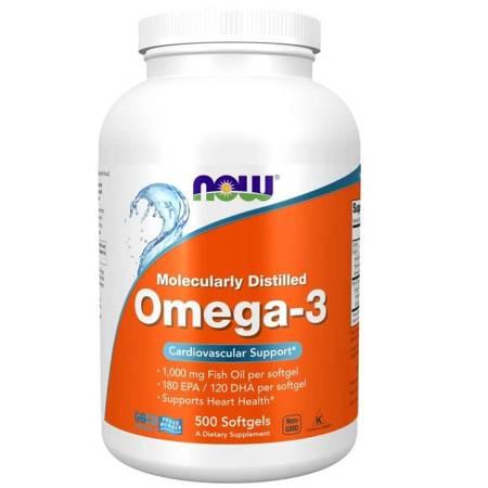Now Foods Omega-3 500 kapsułek