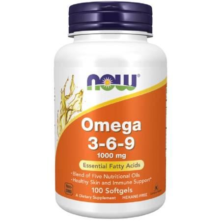 Now Foods Omega 3-6-9 1000 mg 100 kapsułek