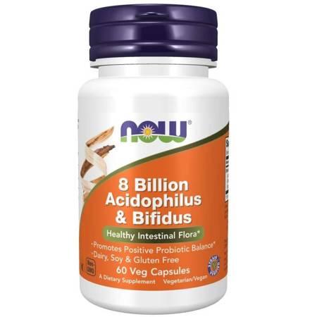 Now Foods Probiotyk Acidophilus i Bifidus 8 miliardów 60 kapsułek