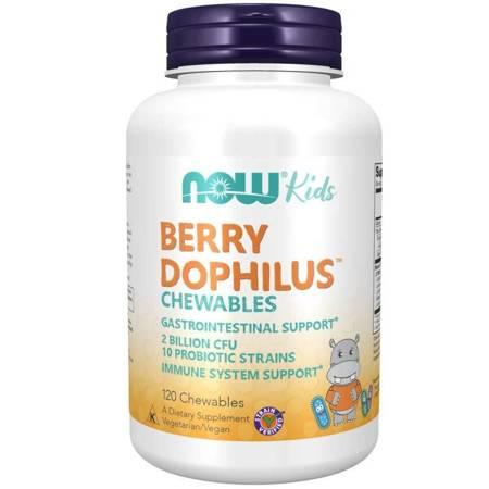 Now Foods Probiotyk Berry Dophilus Kids 10 szczepów 120 tabletek do ssania