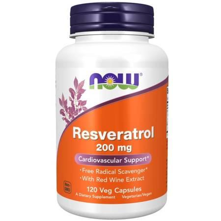 Now Foods Resweratrol 200 mg 120 kapsułek