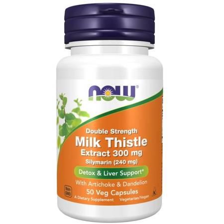 Now Foods Silymarin Double Strength 300 mg 50 kapsułek