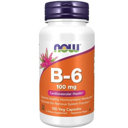 Now Foods Witamina B6 100 mg 100 kapsułek