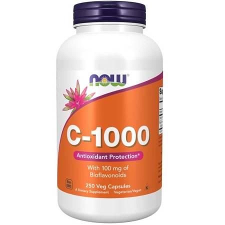 Now Foods Witamina C 1000 mg Bioflawonoidy + Rutyna 250 veg kapsułek