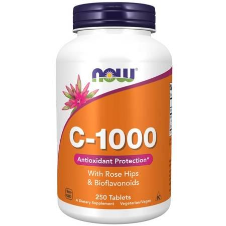 Now Foods Witamina C 1000 mg z Dziką Różą + Bioflawonoidy 250 tabletek