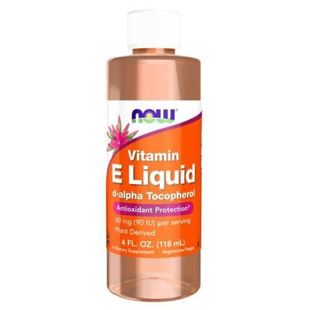 Now Foods Witamina E (d-alfa-Tokoferyl) Liquid 120 ml krolpe
