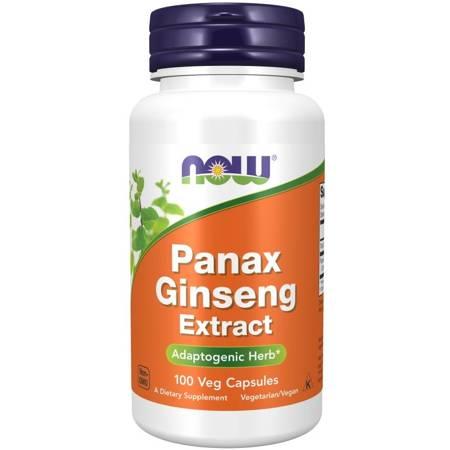 Now Foods Żeń-szeń Koreański (Panax Ginseng) 500 mg 100 kapsułek