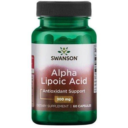 Swanson ALA Kwas Alfa Liponowy 300 mg 60 kapsułek