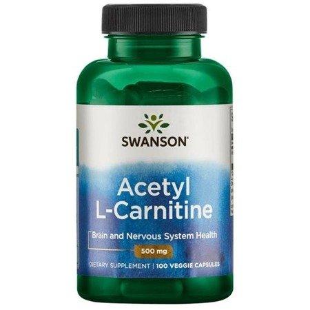 Swanson Acetyl L-Karnityny (ALC) 500 mg 100 kapsułek