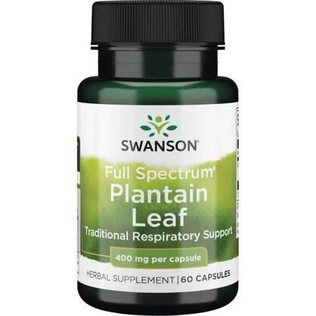 Swanson Babka Zwyczajna (Plantain) 400 mg 60 kapsułek