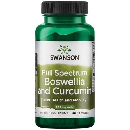 Swanson Boswellia i Curcumin 60 kapsułek
