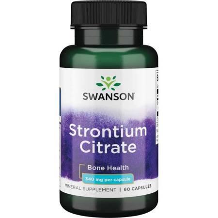 Swanson Cytrynian Strontu 340 mg 60 kapsułek