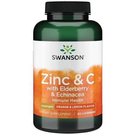 Swanson Czarny Bez + Cynk + Witamina C + Echinacea (Immune) 60 tabletek