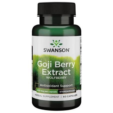Swanson Goji (Wolfberry) Extract 500 mg 60 kapsułek