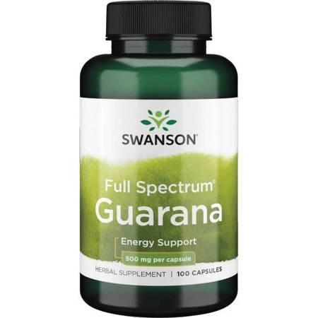 Swanson Guarana 500 mg 100 kapsułek