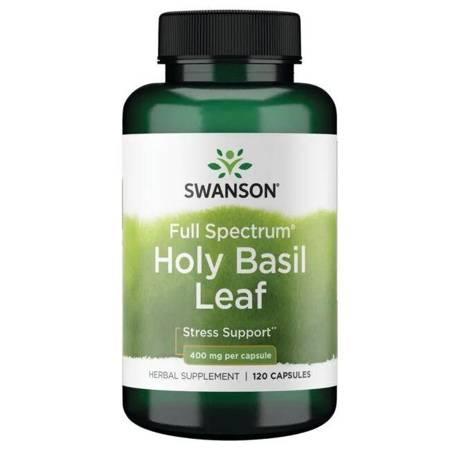 Swanson Holy Basil Leaf (Bazylia) 400 mg 120 kapsułek