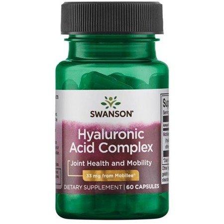 Swanson Hyaluronic Acid Complex 33 mg 60 kapsułek