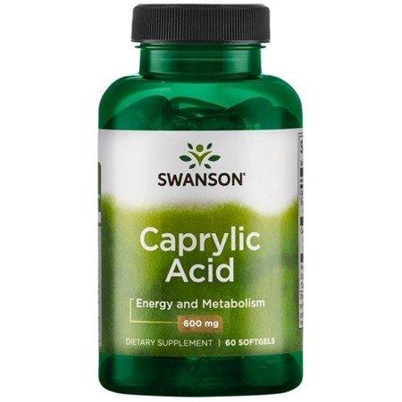 Swanson Kwas Kaprylowy 600 mg 60 kapsułek