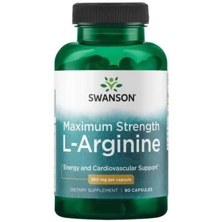 Swanson L-Arginina Super Strength 850 mg 90 kapsułek