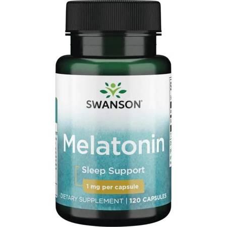 Swanson Melatonina 1 mg 120 kapsułek