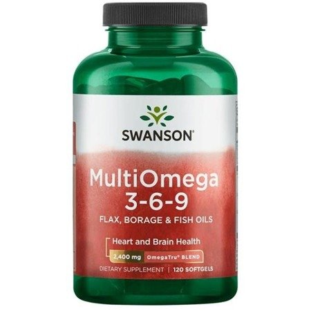 Swanson MultiOmega 3-6-9 Kwas EPA DHA 120 kapsułek