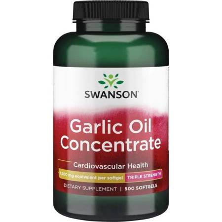 Swanson Olej z Czosnku (Garlic Oil) 1500 mg 500 kapsułek