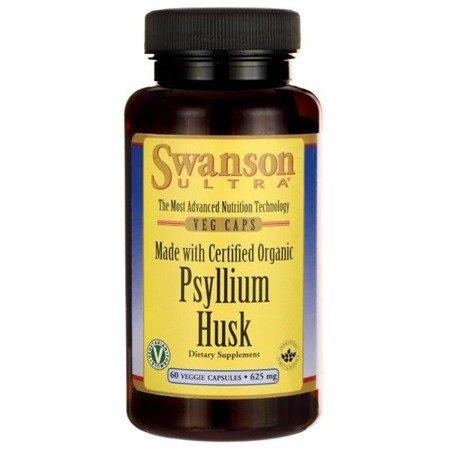 Swanson Organic Psyllium Husk 625 mg 60 kapsułek