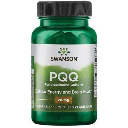 Swanson PQQ (Pyrroloquinoline Quinone) 20 mg 30 kapsułek