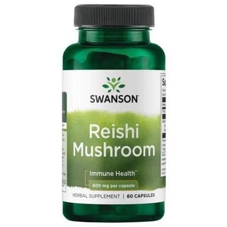 Swanson Reishi Mushroom 600 mg 60 kapsułek