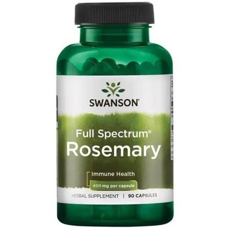 Swanson Rozmaryn Lekarski (Rosemary) 400 mg 90 kapsułek