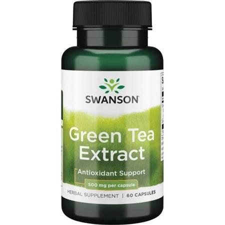 Swanson Zielona Herbata (Green Tea) Extract 500 mg 60 kapsułek